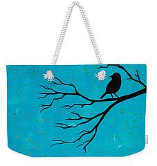 Silhouette Blue Weekender Tote Bag by Stefanie Forck