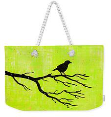 Silhouette Green Weekender Tote Bag by Stefanie Forck