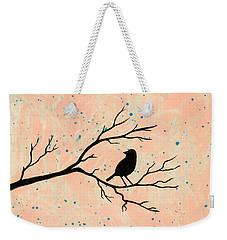 Silhouette Pink Weekender Tote Bag by Stefanie Forck