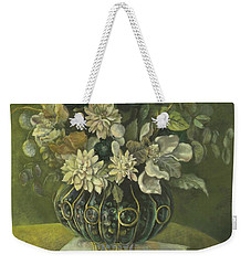 Silk Floral Arrangement Weekender Tote Bag by Marlene Book