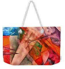 Weekender Tote Bag featuring the digital art Silky Abstract by Catherine Lott