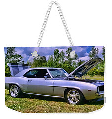 Weekender Tote Bag featuring the photograph Silver 69 by Victor Montgomery