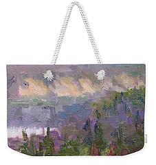 Silver And Gold - Matanuska Canyon Cliffs River Fireweed Weekender Tote Bag