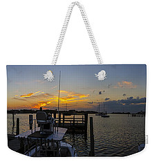 Silver Lake Sunset Panorama Weekender Tote Bag