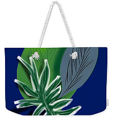 Weekender Tote Bag featuring the digital art Silver Leaf And Fern I by Christine Fournier
