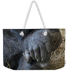 Weekender Tote Bag featuring the photograph Silverback Toes by Robert Meanor