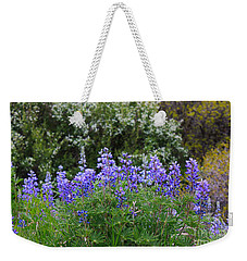 Weekender Tote Bag featuring the photograph Silvery Lupine Black Canyon Colorado by Janice Rae Pariza