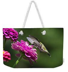 Simple Pleasure Hummingbird Delight Weekender Tote Bag by Christina Rollo