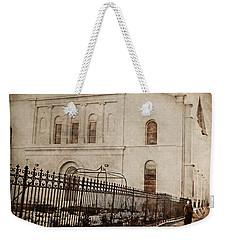 Weekender Tote Bag featuring the digital art Simpler Times by Erika Weber