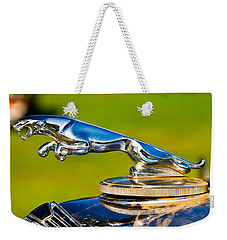Simply Jaguar-front Emblem Weekender Tote Bag by Eti Reid