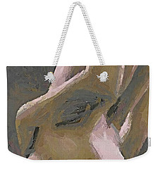 Weekender Tote Bag featuring the painting Simply Naked by Dragica  Micki Fortuna