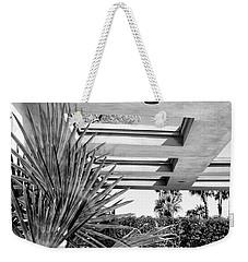 Sinatra Patio Bw Palm Springs Weekender Tote Bag by William Dey