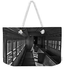 Weekender Tote Bag featuring the photograph Singin' In The Train by Jeremy Rhoades