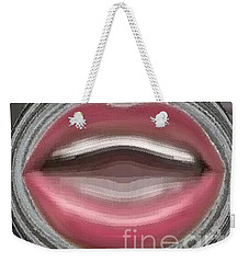 Weekender Tote Bag featuring the digital art Singing by Catherine Lott