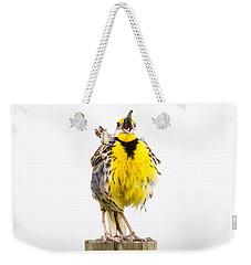 Singing Meadowlark 2 Of 3 Weekender Tote Bag
