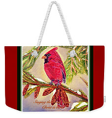 Singing The Good News With A Christmas Message Weekender Tote Bag by Kimberlee Baxter