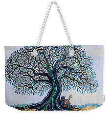 Singing Under The Blues Tree Weekender Tote Bag by Nick Gustafson