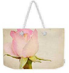 Single Baby Pink Rose Weekender Tote Bag