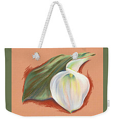 Single Calla Lily And Leaf Weekender Tote Bag