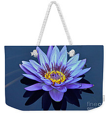 Single Lavender Water Lily Weekender Tote Bag by Byron Varvarigos