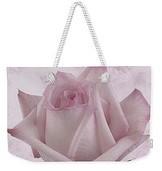 Single Pink Rose Blossom Weekender Tote Bag by Sandra Foster