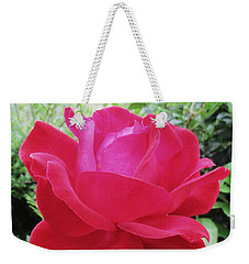 Single Red Rose Weekender Tote Bag
