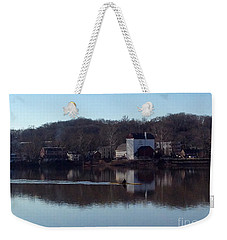Single Scull On The Delaware Weekender Tote Bag
