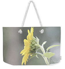 Single Sunflower Weekender Tote Bag by Leone Lund