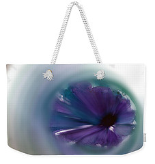 Weekender Tote Bag featuring the mixed media Sinking Into Beauty by Frank Bright