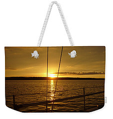 Weekender Tote Bag featuring the photograph Stay Golden by Deena Stoddard