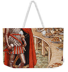 Sir Galahad Is Brought To The Court Of King Arthur Weekender Tote Bag by Walter Crane