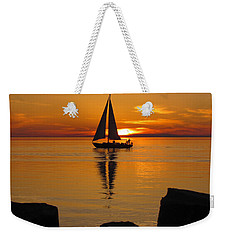 Sister Bay Sunset Sail 2 Weekender Tote Bag