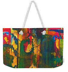Weekender Tote Bag featuring the painting Sisters by Anna Ruzsan
