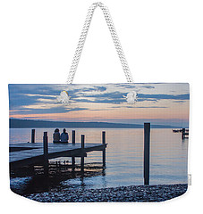 Sisters - Lakeside Living At Sunset Weekender Tote Bag by Photographic Arts And Design Studio