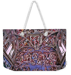 Weekender Tote Bag featuring the photograph Sistine Chapel by Allen Beatty