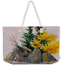 Weekender Tote Bag featuring the painting Sitka Isle by Teresa Ascone