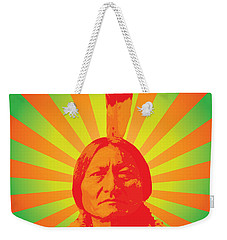 Sitting Bull Weekender Tote Bag by Gary Grayson