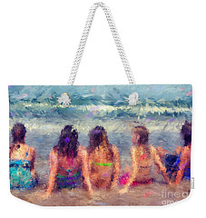 Sitting In The Surf Weekender Tote Bag