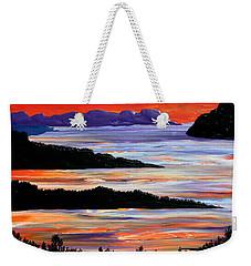 Sitting Seaside Weekender Tote Bag