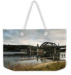 Siuslaw River Bridge Weekender Tote Bag