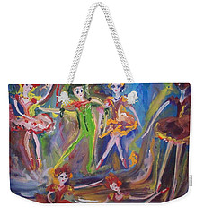 Six Eight Waltz Weekender Tote Bag by Judith Desrosiers