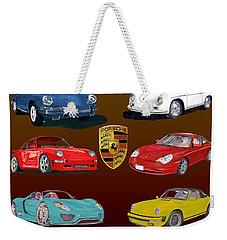 Six Sexy Slippery Porsche Automobiles Weekender Tote Bag