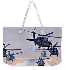 Six Uh-60l Black Hawks And Two Ch-47f Chinooks Weekender Tote Bag