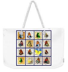 Sixteen Butterflies Weekender Tote Bag by Marian Cates
