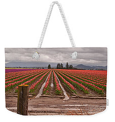 Skagit Valley Tulip Farmlands In Spring Storm Art Prints Weekender Tote Bag