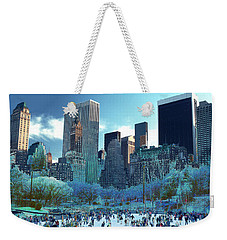 Weekender Tote Bag featuring the photograph Skating Fantasy Wollman Rink New York City by Tom Wurl