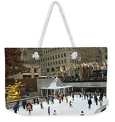 Skating In Rockefeller Center Weekender Tote Bag