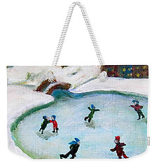 Skating Pond Weekender Tote Bag