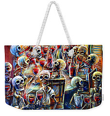 Skeleton Wine Party Weekender Tote Bag