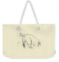 Sketch Of A Dog Digging A Hole Weekender Tote Bag